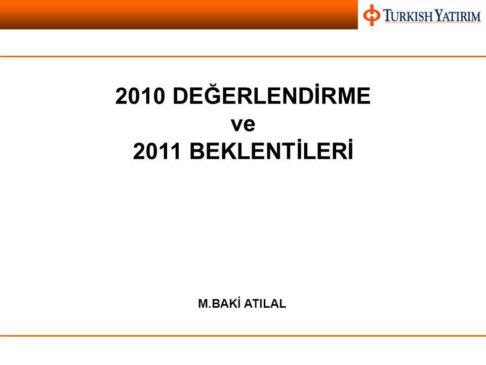 Vadeli İşlemler ve Opsiyon Borsası 2010 DEĞERLENDİRME ve 2011 BEKLENTİLERİ M.BAKİ ATILAL
