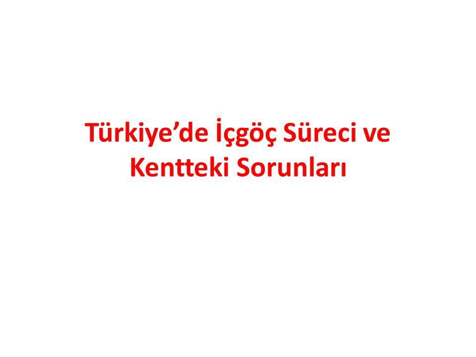 Türkiye'de İçgöç Süreci ve Kentteki Sorunları