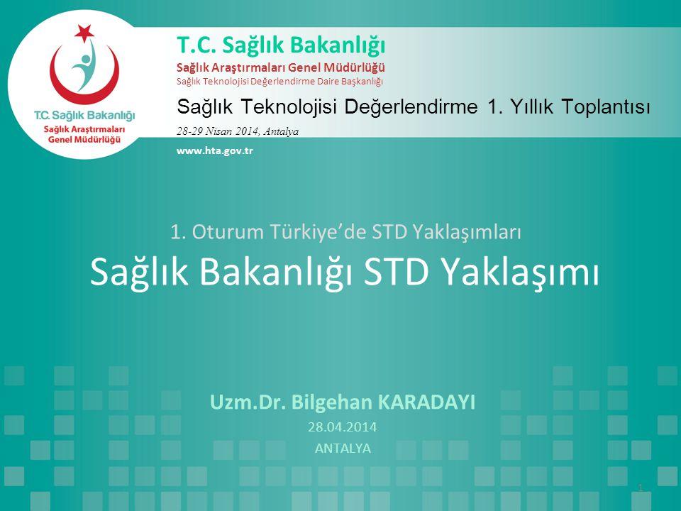 1.Oturum Türkiye'de STD Yaklaşımları Sağlık Bakanlığı STD Yaklaşımı Uzm.Dr.