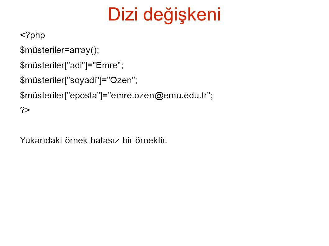 krsort ve ksort <?php $array= array( z => Melek , k => Hasan , a => Tezel , c => Emre ); krsort($array); echo AR sort ; print_r($array); ksort($array); echo A sort ; print_r($array); ?> KR Sort Array ( [z] => Melek [k] => Hasan [c] => Emre [a] => Tezel ) k Sort Array ( [a] => Tezel [c] => Emre [k] => Hasan [z] => Melek )