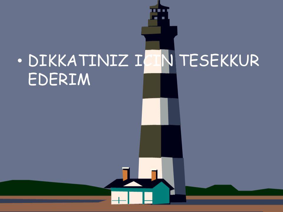 DIKKATINIZ ICIN TESEKKUR EDERIM
