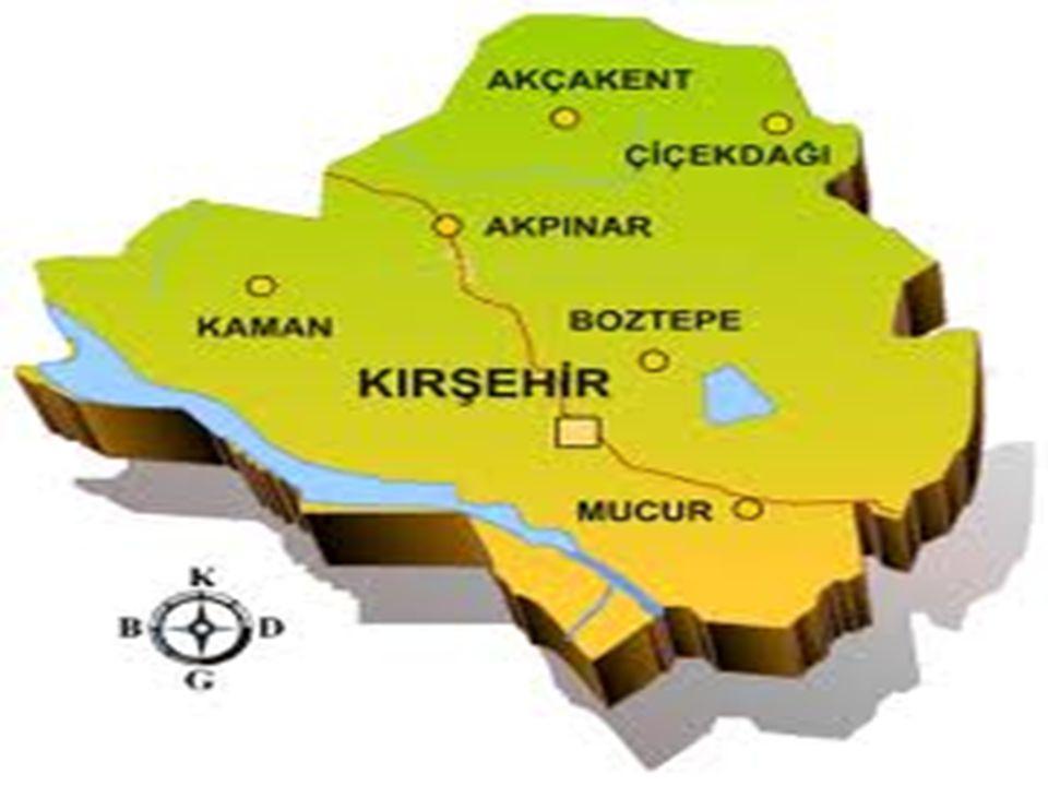  Kırşehir, İç Anadolu Bölgesi'nin orta Kızılırmak Bölümü'nde yer alır.