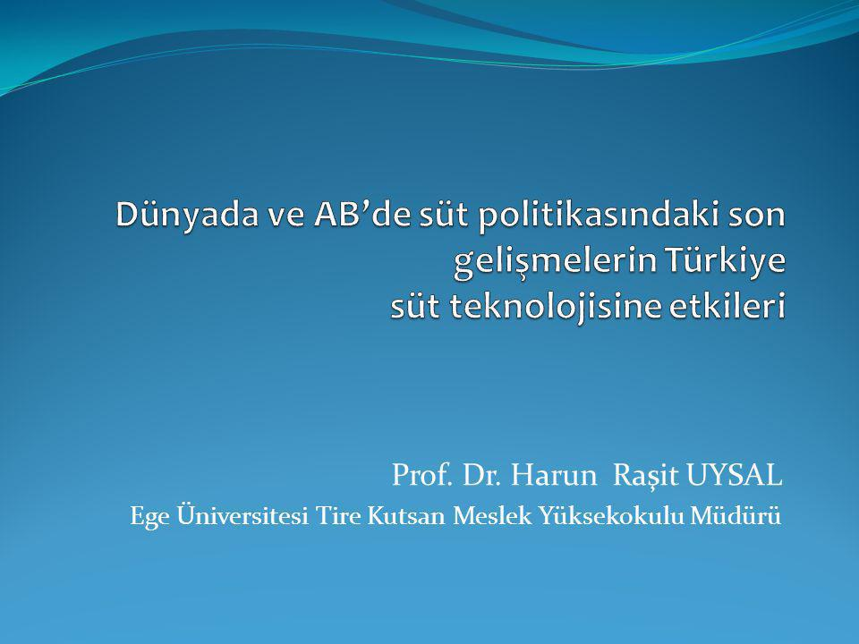 Teknoloji açısından Türkiye ve AB'deki mevcut duruma bakınca ;;; Türkiye'de süt işleme sanayi oldukça gelişmiş durumda.