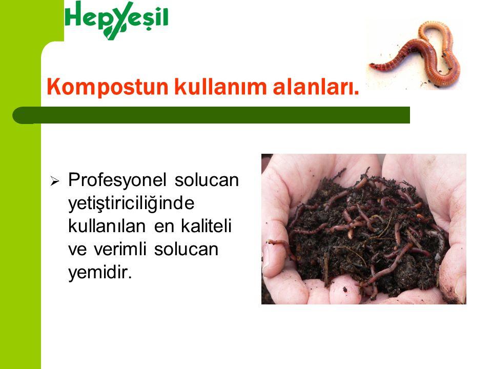  Profesyonel solucan yetiştiriciliğinde kullanılan en kaliteli ve verimli solucan yemidir. Kompostun kullanım alanları.
