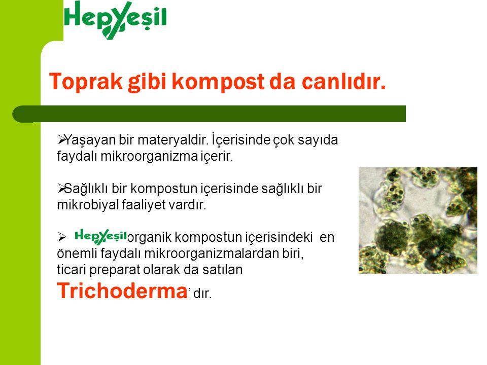 HepYeşil organik kompostta doğal olarak bulunur, dışarıdan ilave edilmez.