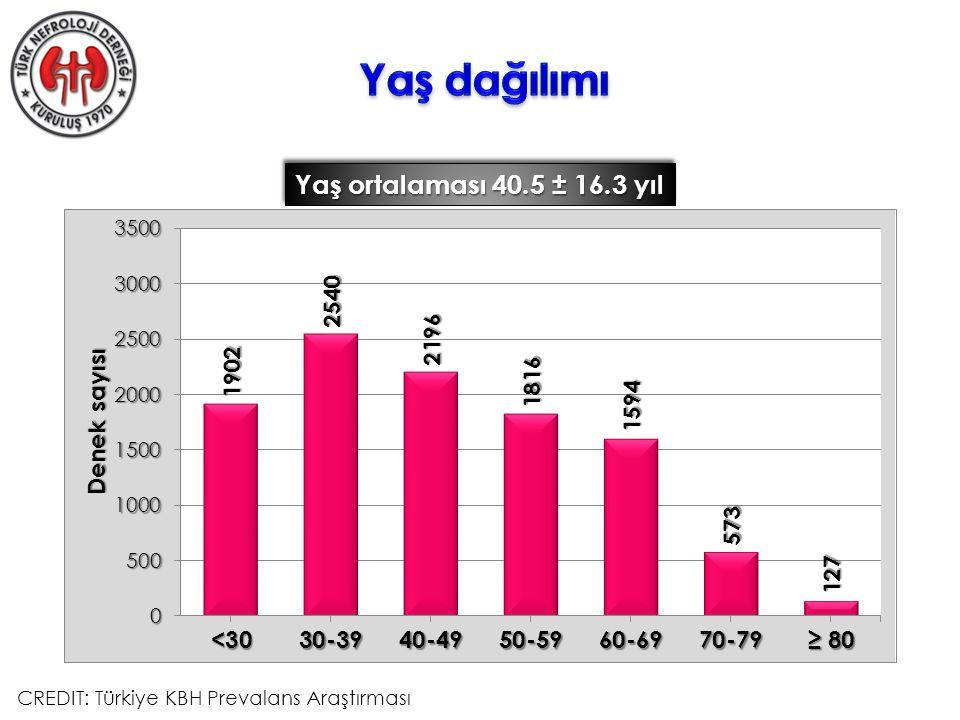 Yaş ortalaması 40.5 ± 16.3 yıl