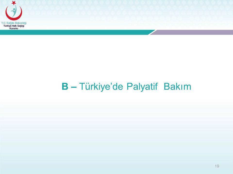 19 B – Türkiye'de Palyatif Bakım