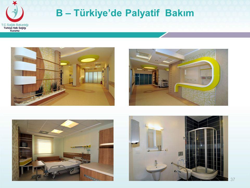 37 B – Türkiye'de Palyatif Bakım