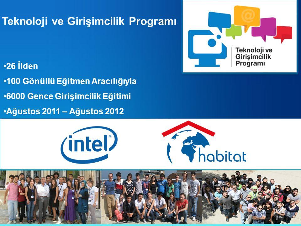 Teknoloji ve Girişimcilik Programı 26 İlden 100 Gönüllü Eğitmen Aracılığıyla 6000 Gence Girişimcilik Eğitimi Ağustos 2011 – Ağustos 2012