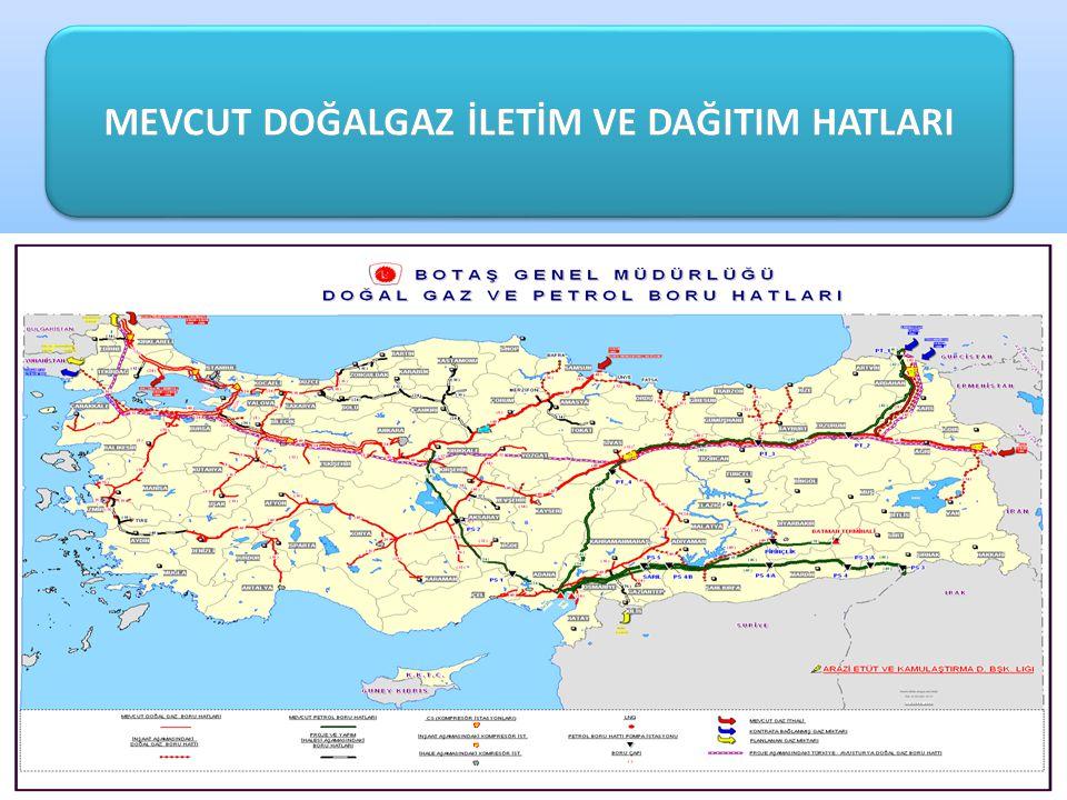 RUSYA FEDERASYONU - TÜRKİYE DOĞAL GAZ BORU HATTI Rusya Federasyonu-Türkiye Doğal Gaz Boru Hattı 842 km uzunluğundadır ve Hamitabat, Ambarlı, İstanbul, İzmit, Bursa, Eskişehir güzergahını takip ederek Ankara ya ulaşmaktadır.