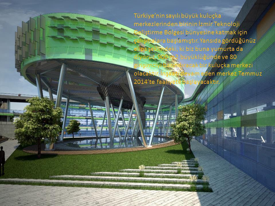 Türkiye'nin sayılı büyük kuluçka merkezlerinden birinin İzmir Teknoloji Geliştirme Bölgesi bünyesine katmak için çalışmalara başlamıştır.