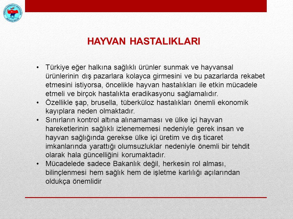 Türkiye eğer halkına sağlıklı ürünler sunmak ve hayvansal ürünlerinin dış pazarlara kolayca girmesini ve bu pazarlarda rekabet etmesini istiyorsa, önc