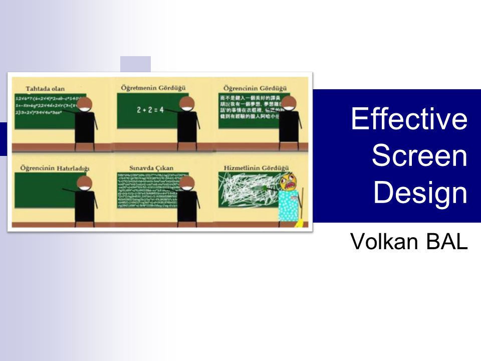 Effective Screen Design Volkan BAL
