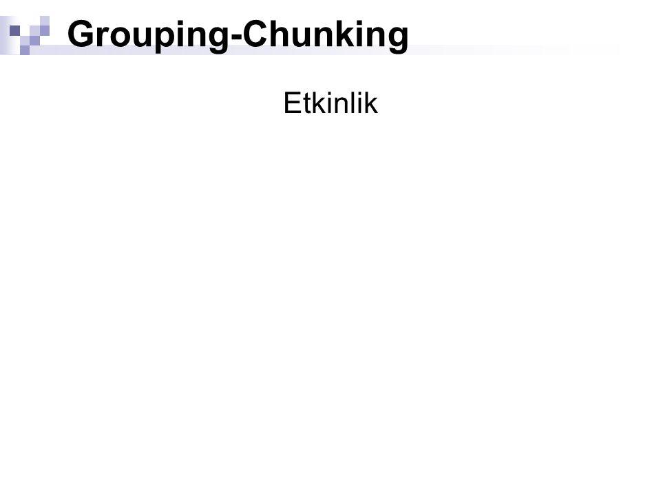 Grouping-Chunking Etkinlik
