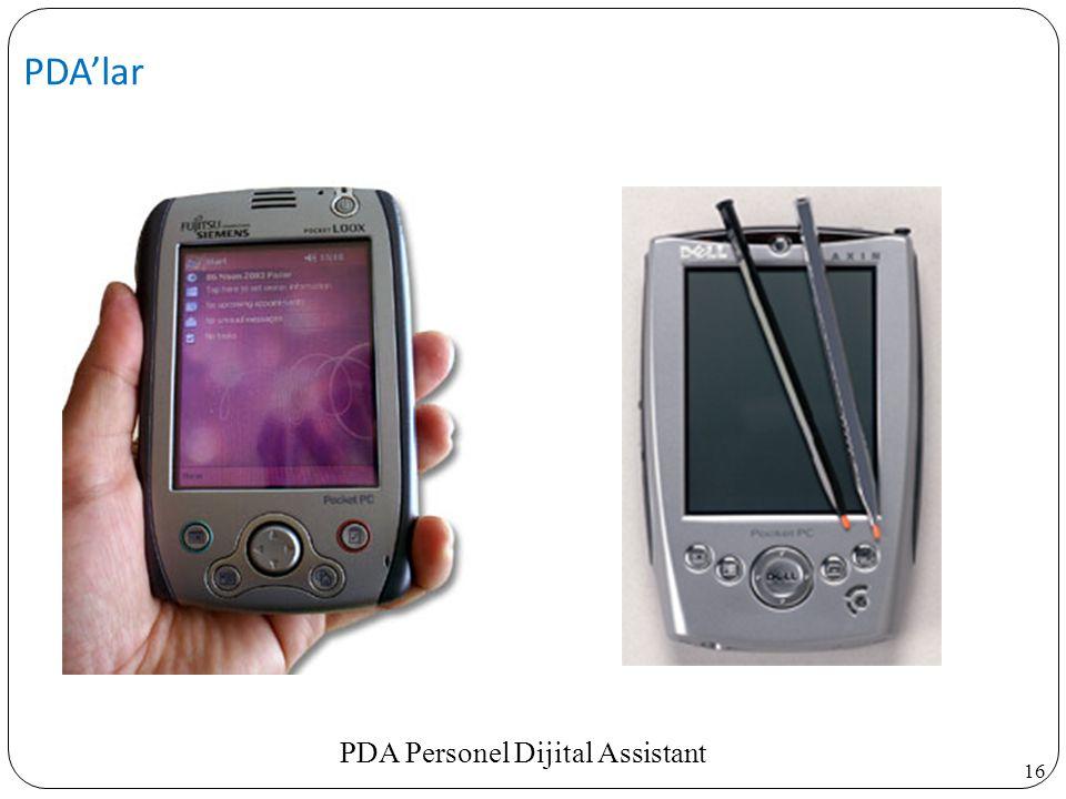 16 PDA'lar PDA Personel Dijital Assistant