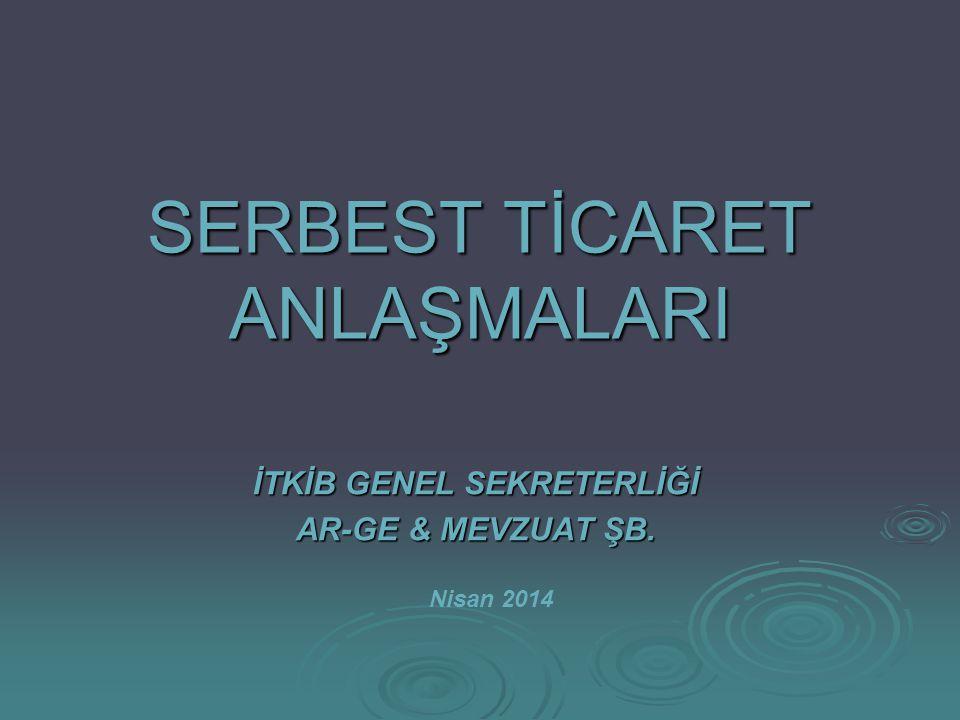 2 Türkiye ile Serbest Ticaret Anlaşması(STA) İmzalayan Ülkeler