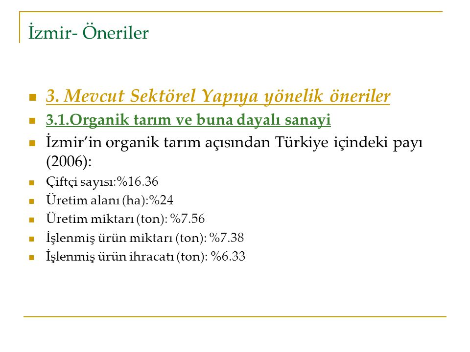 İzmir- Öneriler 3.