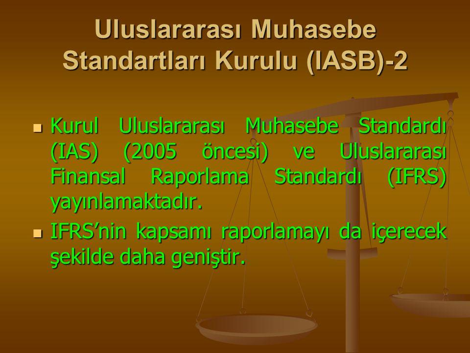 Uluslararası Muhasebe Standartları Kurulu (IASB)-2 Kurul Uluslararası Muhasebe Standardı (IAS) (2005 öncesi) ve Uluslararası Finansal Raporlama Standa