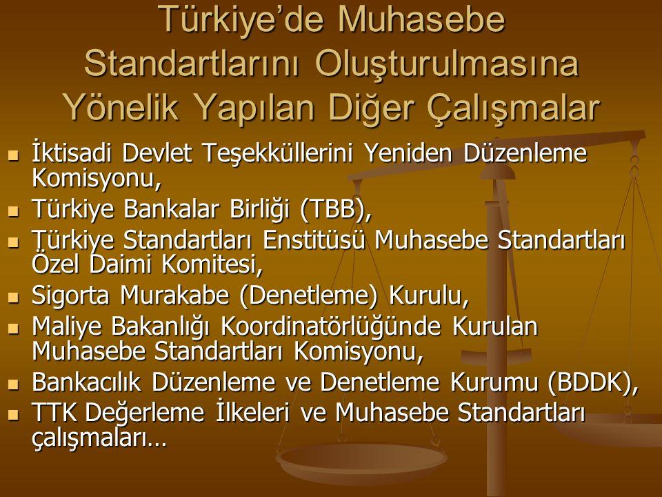Türkiye'de Muhasebe Standartlarını Oluşturulmasına Yönelik Yapılan Diğer Çalışmalar İktisadi Devlet Teşekküllerini Yeniden Düzenleme Komisyonu, İktisa