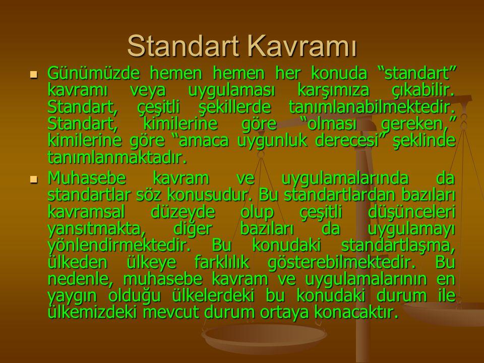 """Standart Kavramı Günümüzde hemen hemen her konuda """"standart"""" kavramı veya uygulaması karşımıza çıkabilir. Standart, çeşitli şekillerde tanımlanabilmek"""