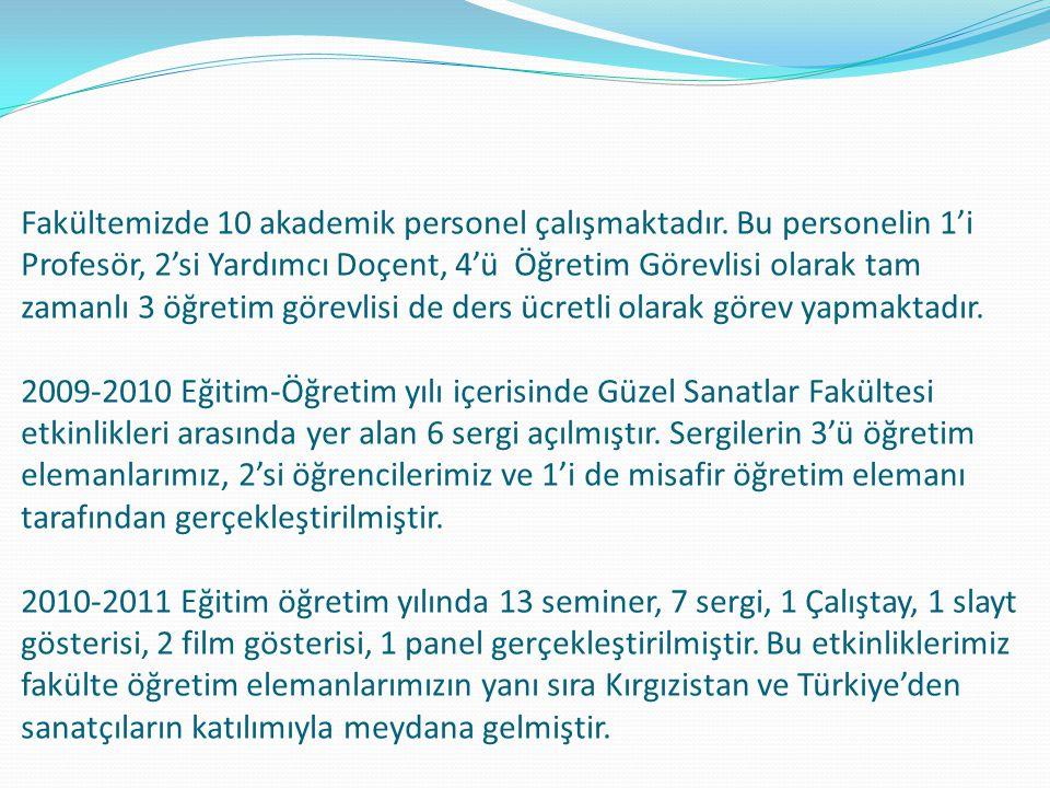 2013-2014 Öğretim Yılı Öğrenci Sayıları RESİM BÖLÜMÜ I.