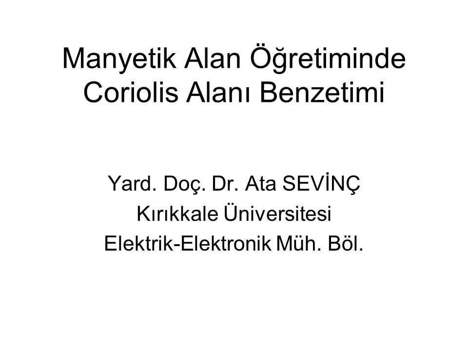 Manyetik Alan Öğretiminde Coriolis Alanı Benzetimi Yard.