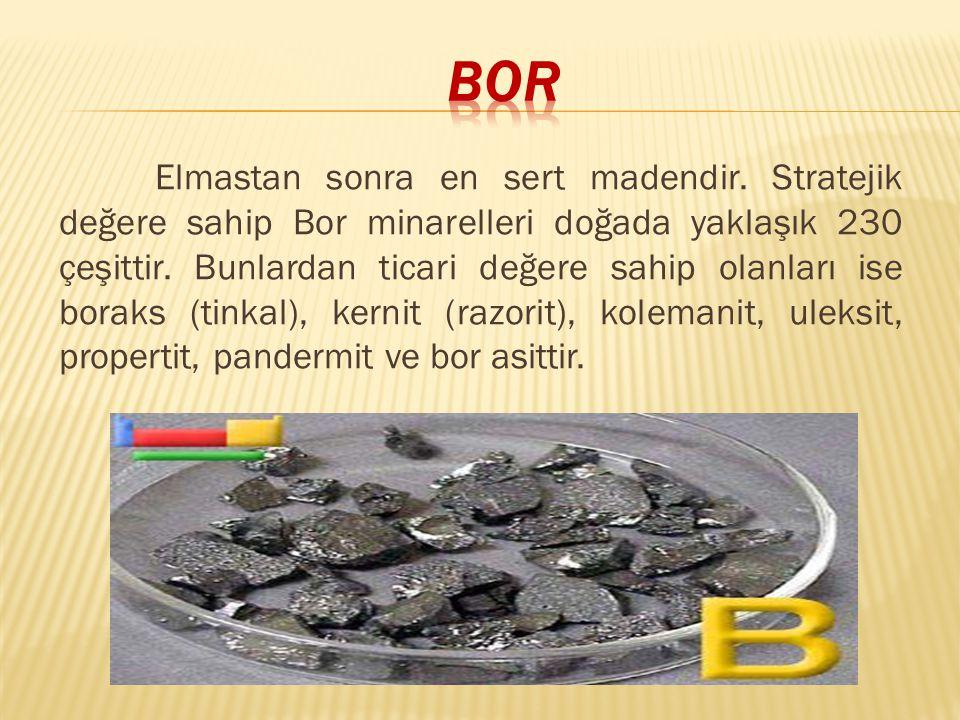 Bor ve türevleri uzun yıllardan beri kullanılmaktadır.