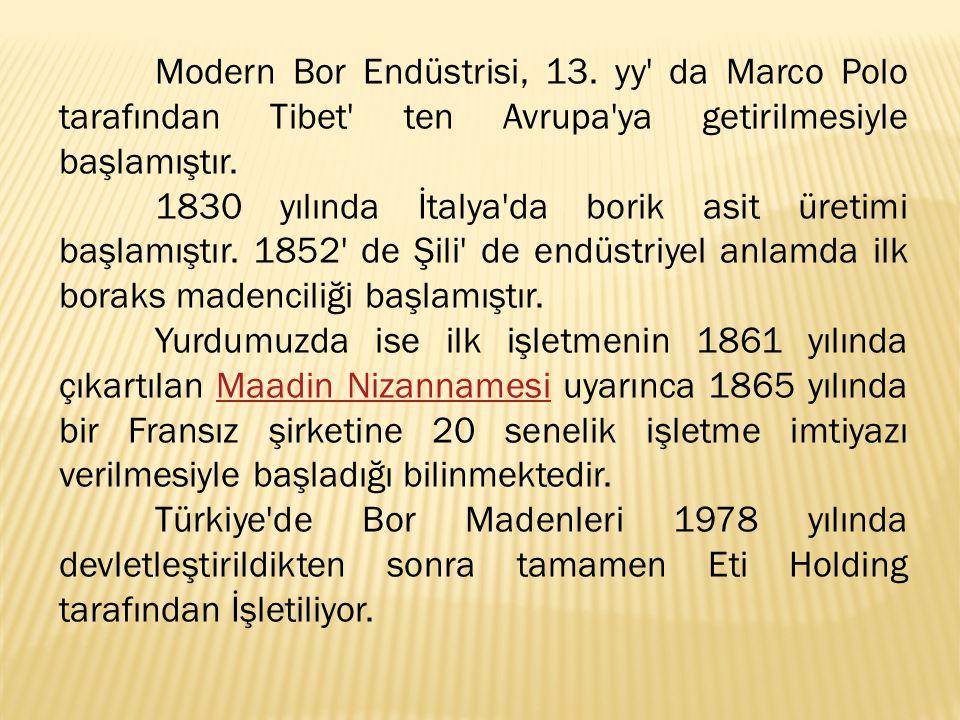 Modern Bor Endüstrisi, 13.