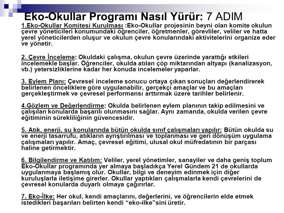 Eko anket sonuçları Türçev-Eko Okullar İTÜ Dr.