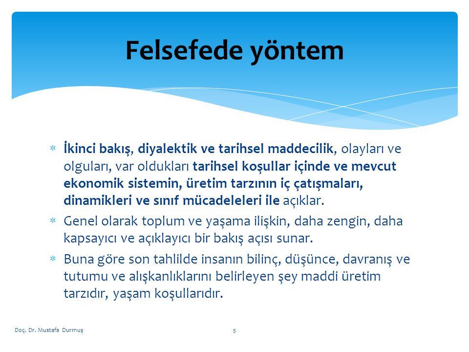  BÖLÜŞÜM Doç. Dr. Mustafa Durmuş126