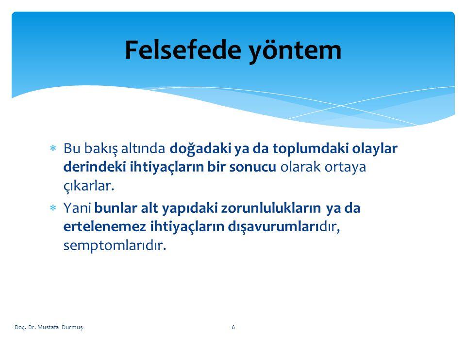  Toplumlar Tarihi :  İnsanlığın ve toplumların gelişimi Doç. Dr. Mustafa Durmuş7