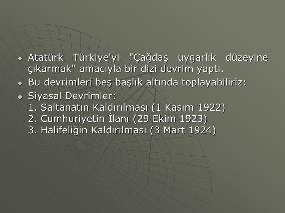  Atatürk Türkiye'yi