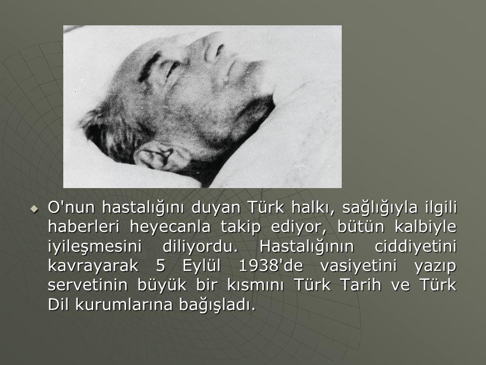  O'nun hastalığını duyan Türk halkı, sağlığıyla ilgili haberleri heyecanla takip ediyor, bütün kalbiyle iyileşmesini diliyordu. Hastalığının ciddiyet