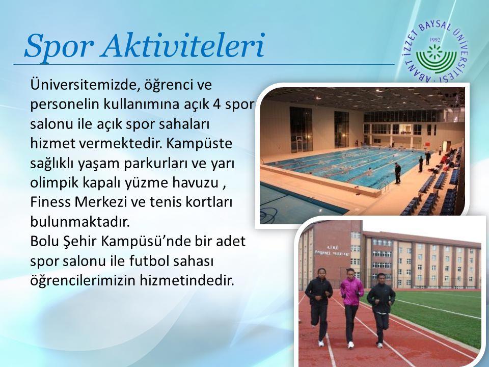 Spor Aktiviteleri Üniversitemizde, öğrenci ve personelin kullanımına açık 4 spor salonu ile açık spor sahaları hizmet vermektedir.