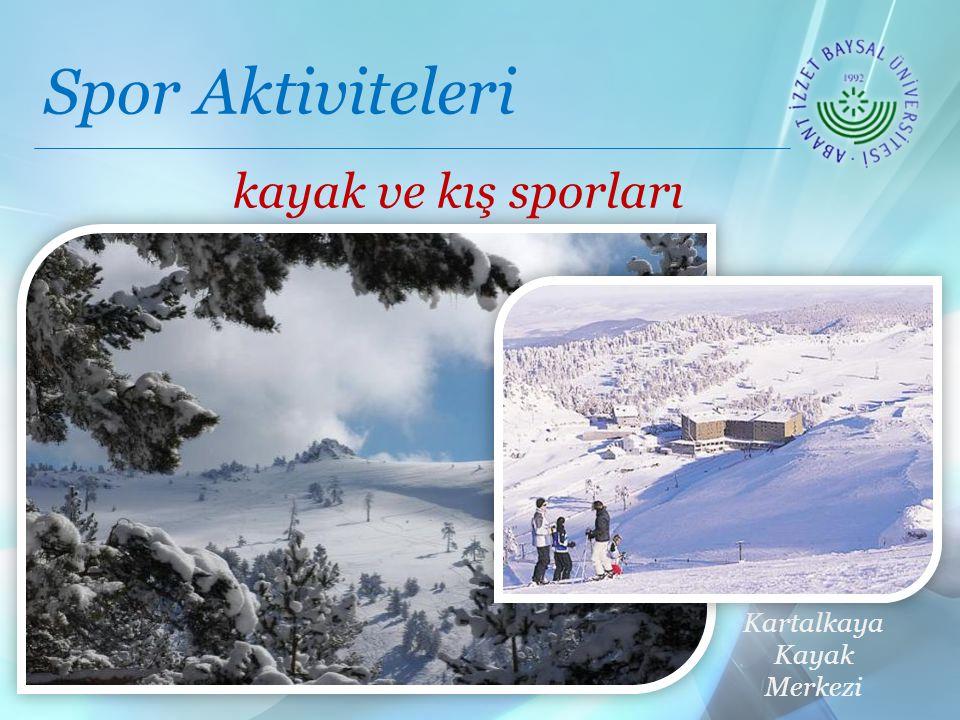 Spor Aktiviteleri Ağrı Dağı Kartalkaya Kayak Merkezi kayak ve kış sporları