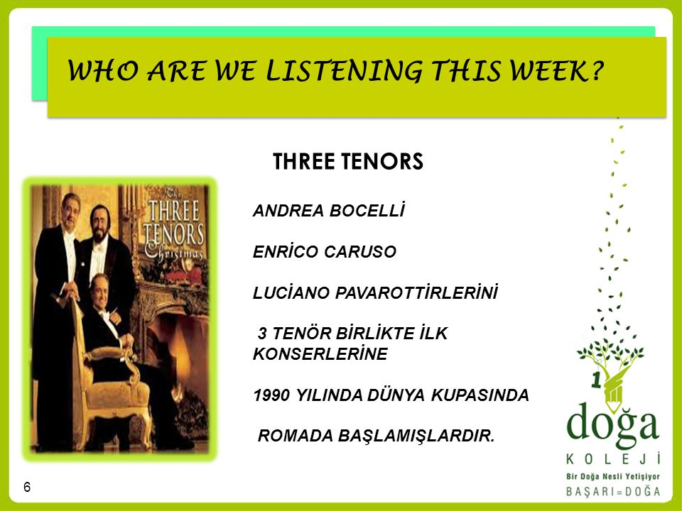 7 WHO ARE WE LISTENING THIS WEEK? NEW YEAR SONGS (YENİ YIL ŞARKILARI)