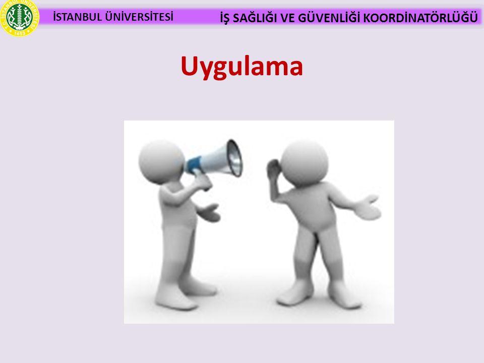 İSTANBUL ÜNİVERSİTESİ İŞ SAĞLIĞI VE GÜVENLİĞİ KOORDİNATÖRLÜĞÜ Etkili iletişimdeki etkenler 7% Sözcükler 38% Ses tonu 55% Beden Dili (Sözsüz İletişim) Mehrabian (Beden Dili, A.