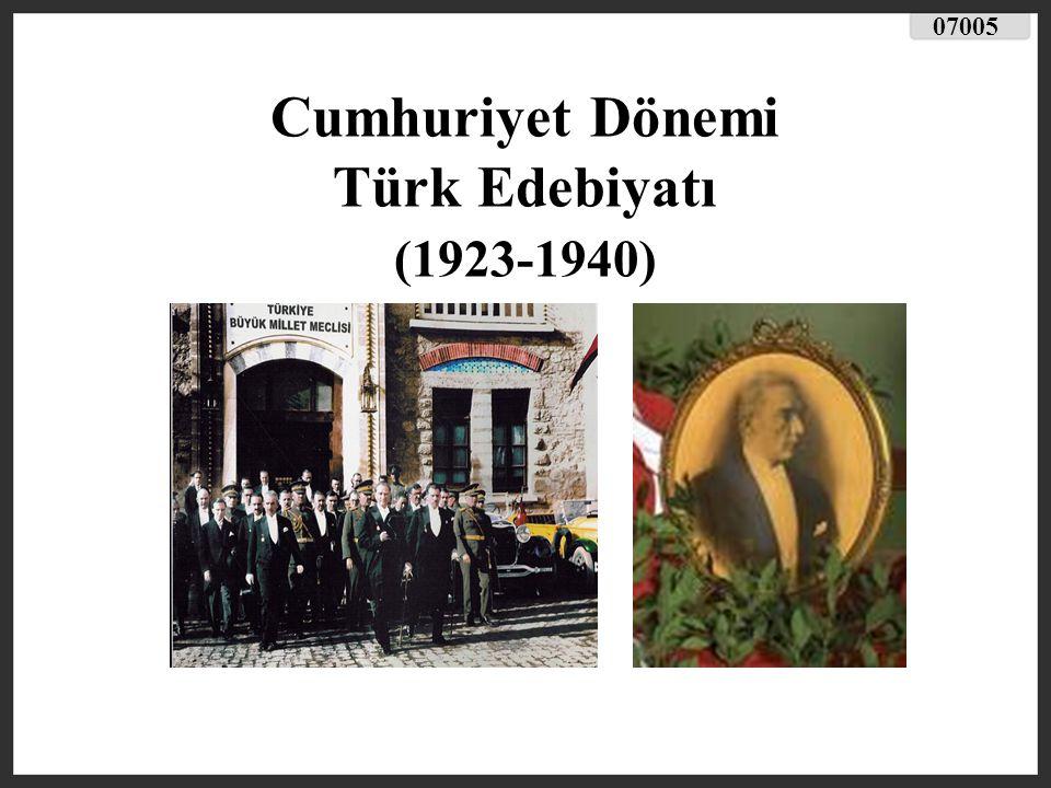 GENEL ÖZELLİKLER Kurtuluş Savaşı sonrası Cumhuriyet in ilanı Türk toplumunu çağdaş bir yaşama kavuşturmuştur.