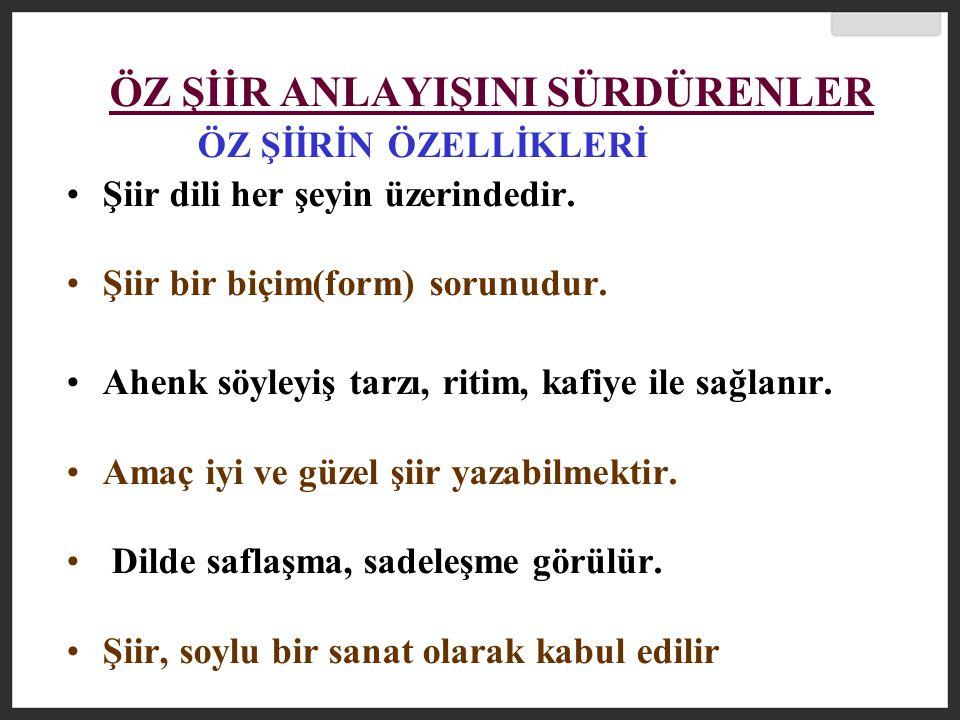 Necip Fazıl Kısakürek (1905-1983) İlk şiirlerinde ferdi ıstırapları ve aşkı anlatmıştır.