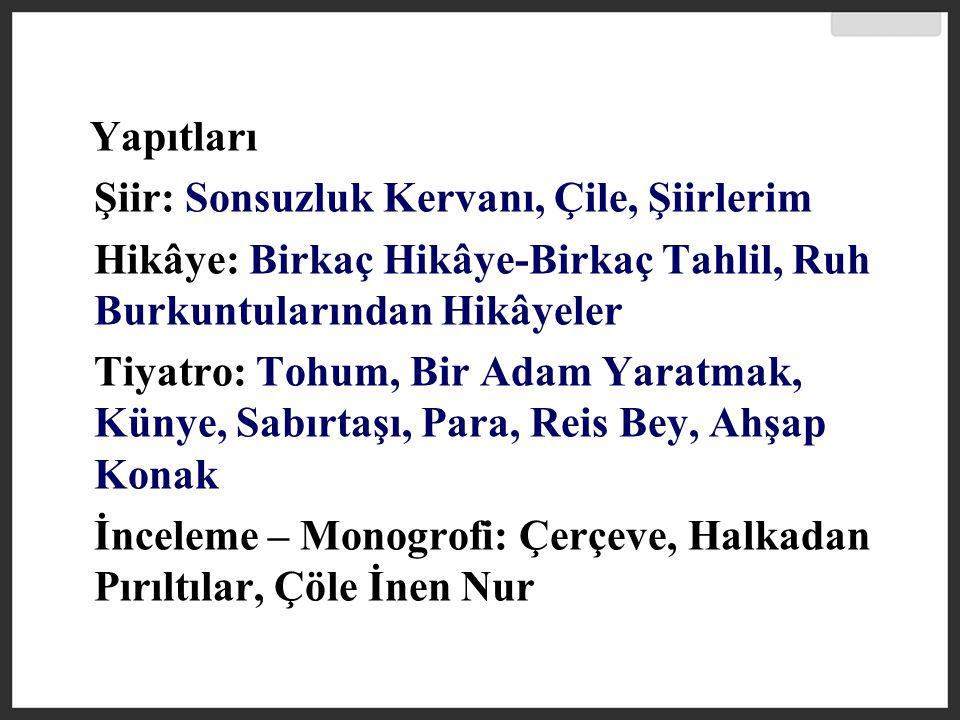 Oktay Rifat (1914-1988) Orhan Veli ve Melih Cevdet'le aynı yıllarda ün kazanan şair, Garip Akımı nın öncülerinden olmuş, 1960'lı yıllarda kendini yenileyerek İkinci Yeni doğrultusunda soyut şiirler yazmıştır.