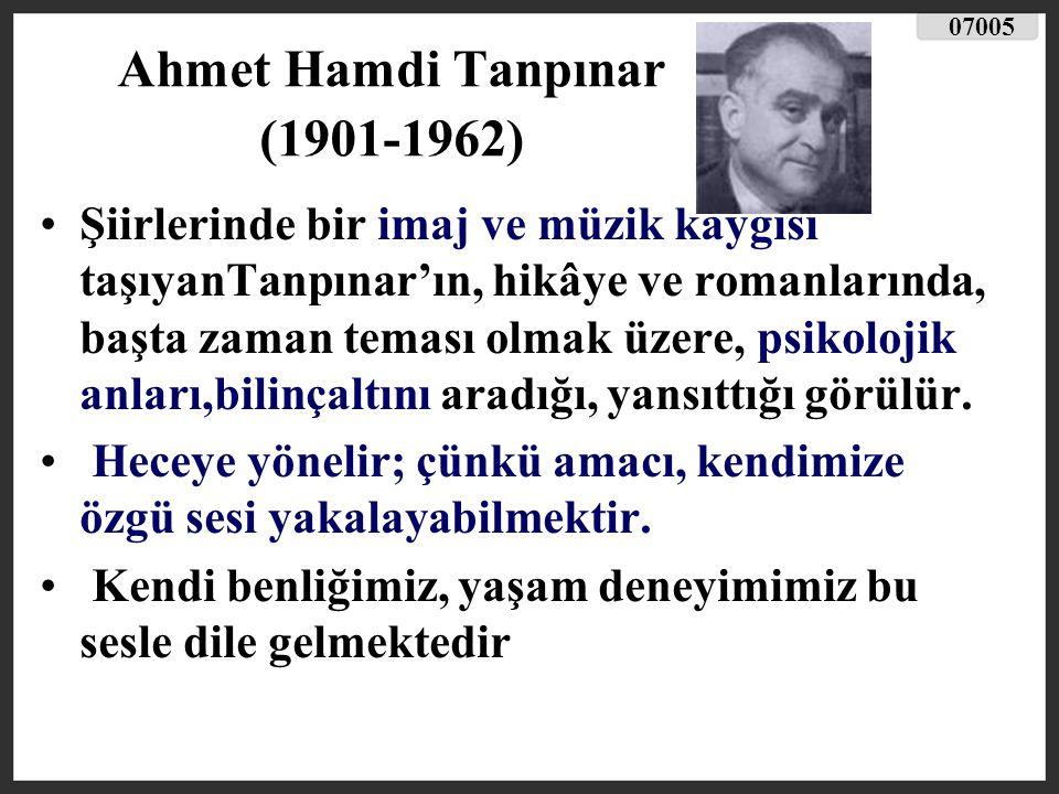 Melih Cevdet Anday (1915-2002 ) Anday, Garip Akımı na öncülük etmiş ve bu yolda ilginç buluşlara dayanan nükte ve yergi ağırlıklı şiirler yazmıştır.