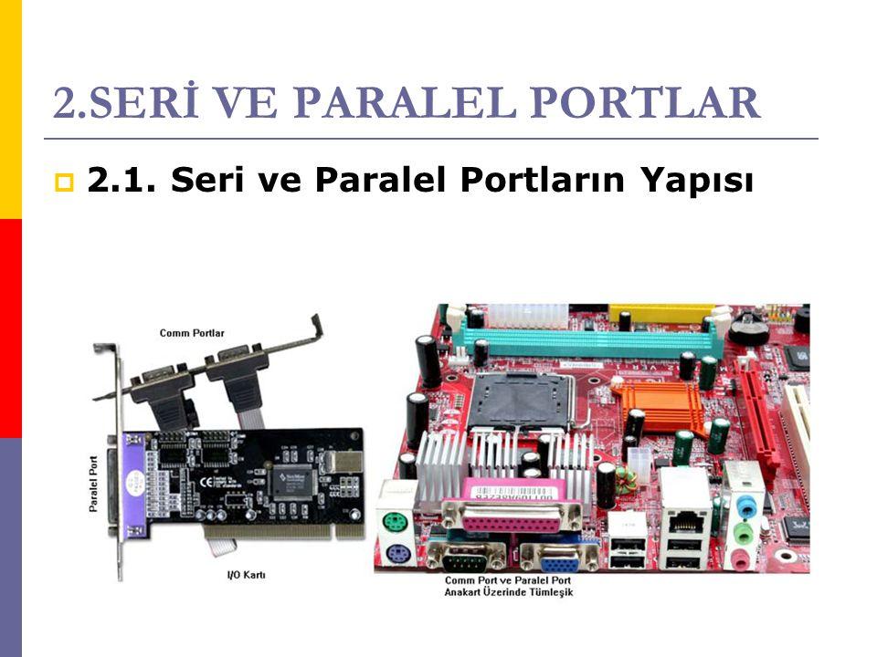 2.SERİ VE PARALEL PORTLAR  2.1. Seri ve Paralel Portların Yapısı