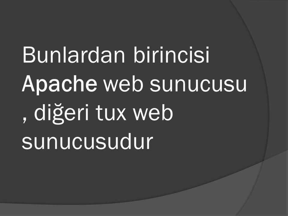 Bunlardan birincisi Apache web sunucusu, diğeri tux web sunucusudur