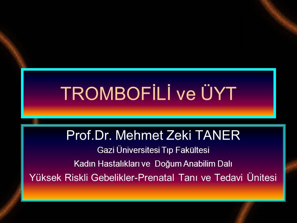 Prof.Dr. Mehmet Zeki TANER Gazi Üniversitesi Tıp Fakültesi Kadın Hastalıkları ve Doğum Anabilim Dalı Yüksek Riskli Gebelikler-Prenatal Tanı ve Tedavi
