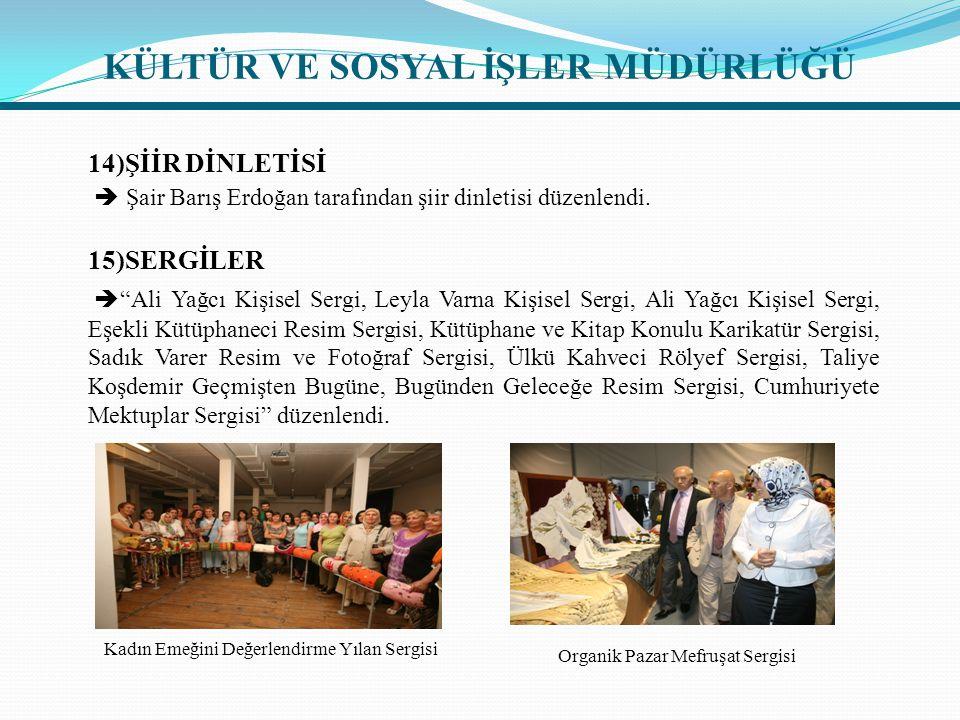 14)ŞİİR DİNLETİSİ  Şair Barış Erdoğan tarafından şiir dinletisi düzenlendi.