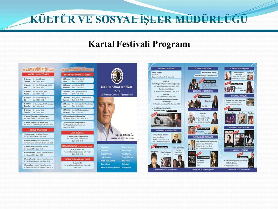 Kartal Festivali Programı KÜLTÜR VE SOSYAL İŞLER MÜDÜRLÜĞÜ