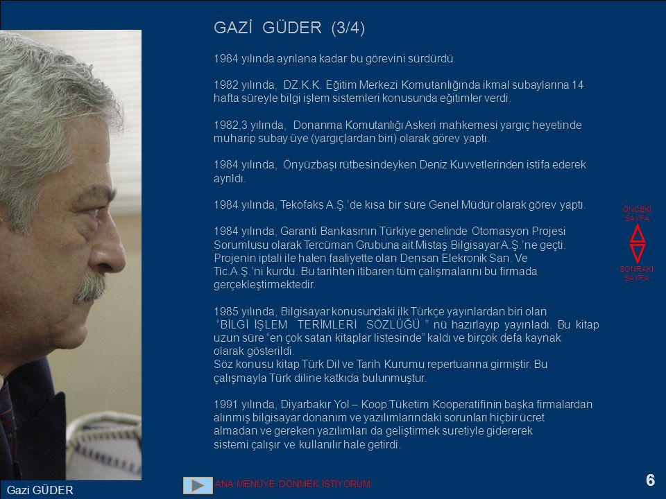 7 1992 - 1997 yılları arasında The Marmara Otellerinin Bilgi İşlem danışmanlığını yaptı.