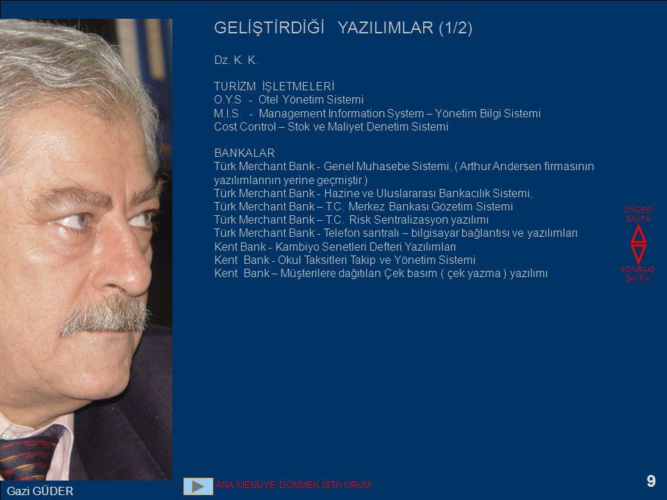 10 İŞLETME YÖNETİMİ ve TİCARİ YAZILIMLAR DENSOFT yazılımlarının tasarımcısı ve geliştiricisidir.