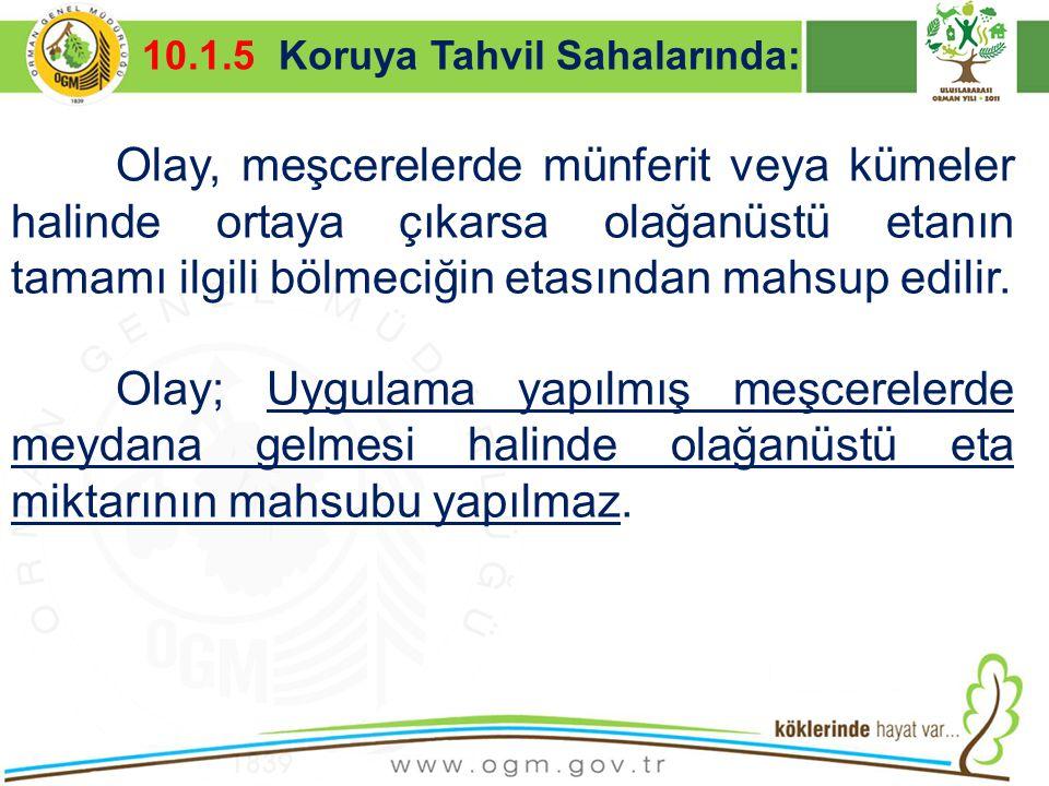 16/12/2010 Kurumsal Kimlik 23 Olay, meşcerelerde münferit veya kümeler halinde ortaya çıkarsa olağanüstü etanın tamamı ilgili bölmeciğin etasından mah