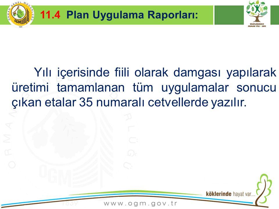16/12/2010 Kurumsal Kimlik 47 Yılı içerisinde fiili olarak damgası yapılarak üretimi tamamlanan tüm uygulamalar sonucu çıkan etalar 35 numaralı cetvel
